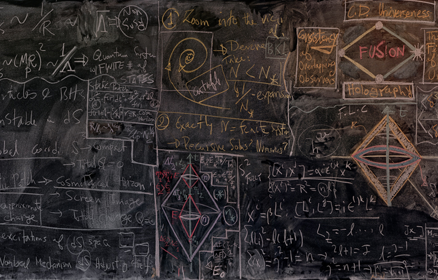 beauty can be messy. a quantum physicists' chalkboard. series by alejandro guijarro.